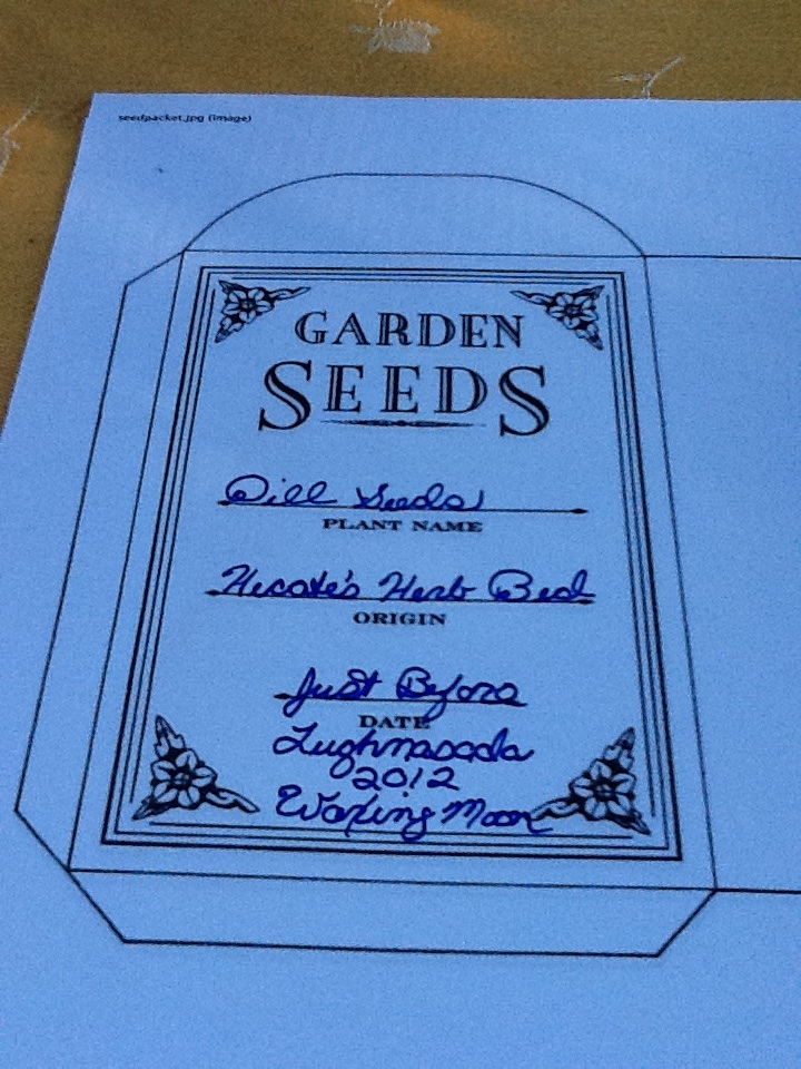 Filled In Seed Packet Template | hecatedemeter