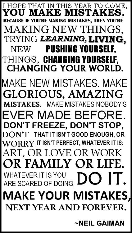 New Year's Advice