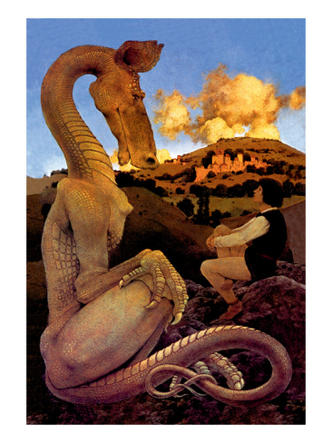 maxfield-parrish-the-reluctant-dragon_i-G-55-5502-174WG00Z