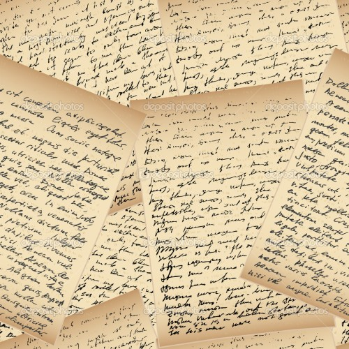 Handwriting letters