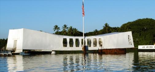 picture of the USS Arizona Memorial, Pearl Harbor, Hawaii