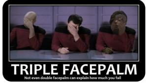 Facepalm: Picard, Riker, Worf